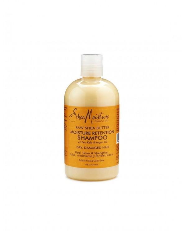 Raw Shea Butter Moisture Retention Shampoo 384ml -ŠAMPÓN NA SUCHÉ A POŠKODENÉ VLASY - Vlasová kozmetika
