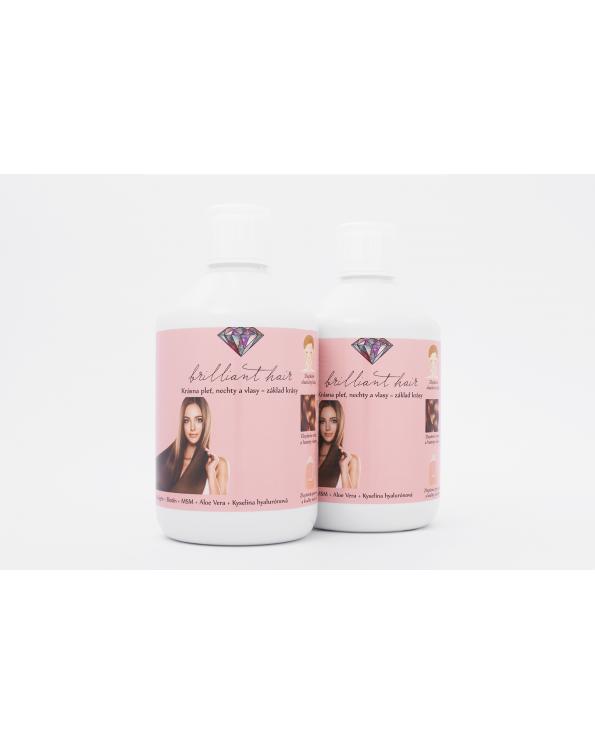 brilliant hair vitamíny na vlasy, pleť a nechty, dvojmesačná kúra - Vitamíny na vlasy, pleť, nechty